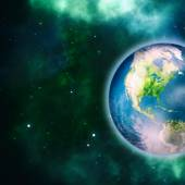Earth planet, science and environmental background — Stock Photo
