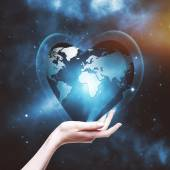 Our planet in your hands — Stock Photo