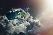 Earth view in skies — Stock Photo