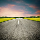 Blurred road background — Stock Photo