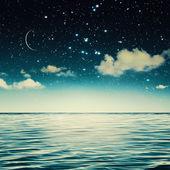 Marine view at night — Stock Photo