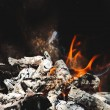 Burning flame and firewoods — Stock Photo #73543483