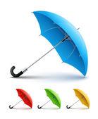 Umbrellas color set — Stock Vector