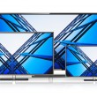 Set of widescreen TV displays — Stock Photo #52250213
