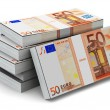Stacks of 50 Euro banknotes — Stock Photo #52250235