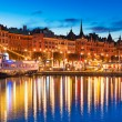 Evening scenery of Stockholm, Sweden — Stock Photo #52250283