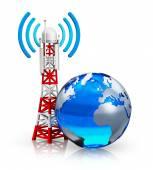Global telecommunications concept — Stock Photo