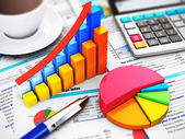 Business, finance and accounting concept — Stock Photo
