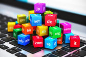 Internet and domain names concept — Stockfoto