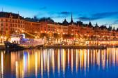 Evening scenery of Stockholm, Sweden — Stock Photo