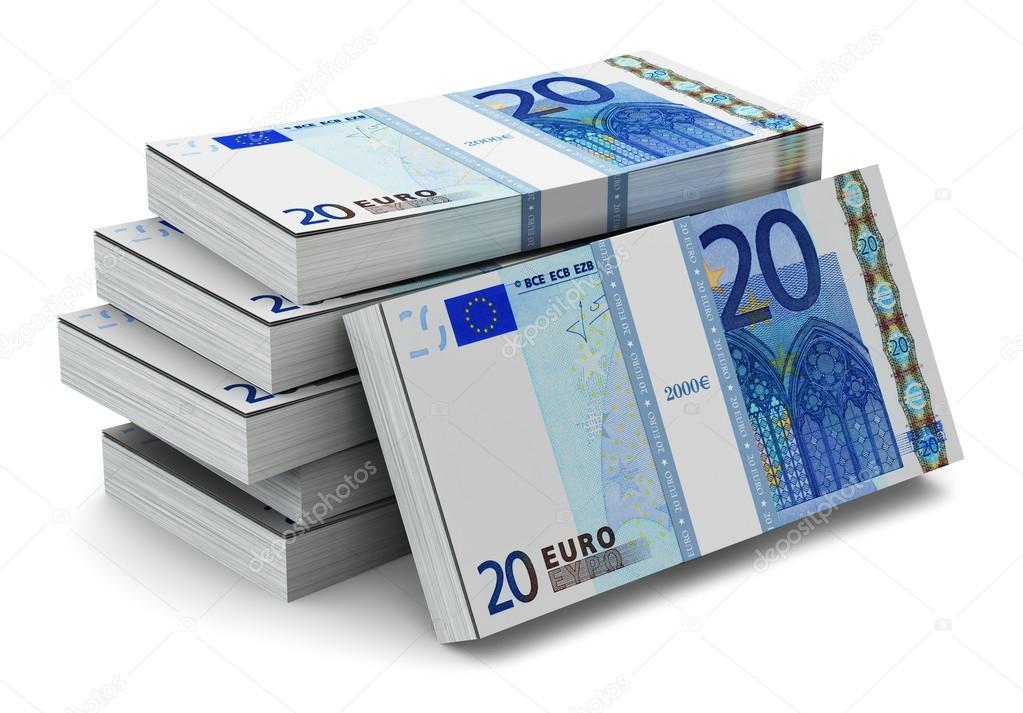 Fajos de billetes de 20 euros fotos de stock scanrail - Stock piastrelle 2 euro ...