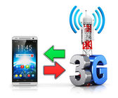 3G wireless communication concept — Stock Photo