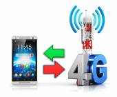 4G wireless communication concept — Stock Photo