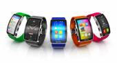 Collection of smart watches — ストック写真
