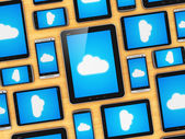 Cloud computing on mobile devices concept — Stock Photo