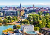 Letecké panorama helsinky, finsko — Stock fotografie