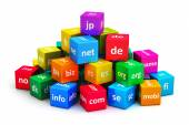 Internet and domain names concept — Stock Photo