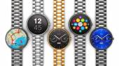Collection of luxury smart watches — 图库照片