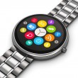 Stainless steel luxury smartwatch — Foto Stock #57538833