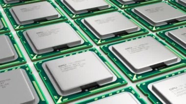 Modern processors — Stock Video