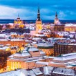 Winter evening aerial scenery of Tallinn, Estonia — Stock Photo #59215807