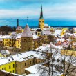 Winter scenery of Tallinn, Estonia — Stock Photo #59744823