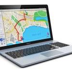 GPS navigation on laptop — Stock Photo #59744825