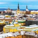 Winter scenery of Tallinn, Estonia — Stock Photo #60195237