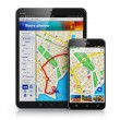 GPS navigation on mobile devices — Stock Photo #60195281