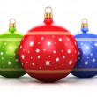 Color Christmas balls — Stock Photo #60269435