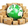 Worldwide shipping and ecology concept — Stock Photo #61589069