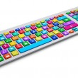 Computer keyboard with color social media keys — Stock Photo #61589077