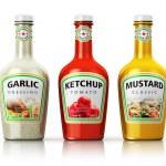 Set of bottles with seasonings — Stock Photo #61589085