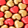 Red and golden hearts — Stock Photo #62212453