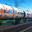 Freight train with biofuel tankcars — Stock Photo #62212463