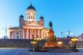 Evening Senate Square, Helsinki, Finland — Stock Photo
