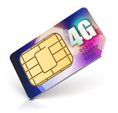 SIM card for 4G enabled operator — Stock Photo
