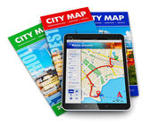 GPS navigation, travel and tourism concept — Stock Photo