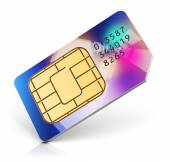 Color SIM card — Stock Photo