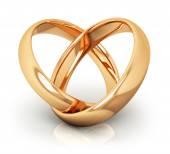 Golden wedding rings — Stock Photo