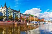 Old Town pier in Helsinki, Finland — Stock Photo