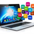 Internet en domein namen concept — Stockfoto #70649423