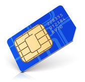 Blue SIM card — Stock Photo