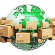 Global shipping and ecology concept — Stock Photo #72503587