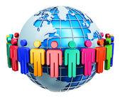 Концепция глобальной связи Интернет — Стоковое фото
