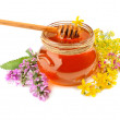 Honey in jar — Stock Photo #52285637
