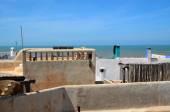 View on Atlantic ocean  from roof of Essaouira — ストック写真