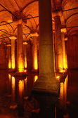 Columns in Basilica Cistern in Istanbul — Stock Photo