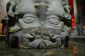 Gorgon Medusa head in Basilica Cistern — Stock Photo
