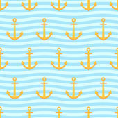 Anchors pattern — Stock Vector